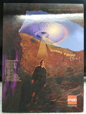 2001 Danny Carey of Tool Paiste cymbal drum ad for Sale in Brentwood, CA