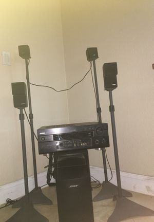 Bose speaker system and Yamaha cinema dsp for Sale in Madera, CA