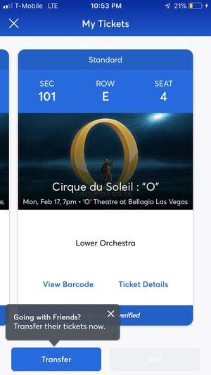 """""""Cirque de Soleil"""" ticket $90 for Sale in Los Angeles, CA"""
