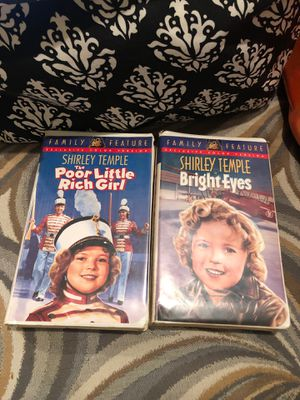Exclusive Color Version Shirley Temple 2 VCR movies for Sale in Tallahassee, FL