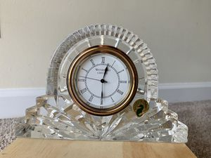 Waterford Crystal large silver rimmed cottage clock for Sale in Baltimore, MD