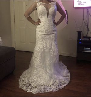Wedding dress size 6 for Sale in South El Monte, CA