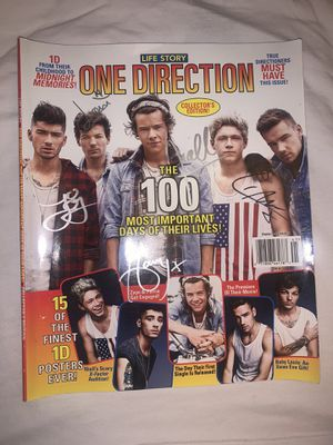 Signed 1D magazine for Sale in Durham, NC