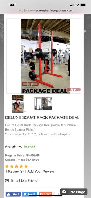Like new squat rack with bench and attachments for Sale in Montclair, CA