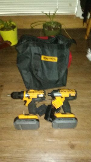 Bostitch 18v lithium cordless impact+ cordless drill set with carry case for Sale in Portland, OR