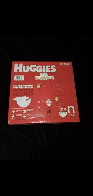 128 Newborn Size Huggies Diapers for Sale in South El Monte, CA
