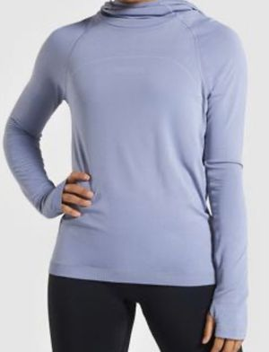 Gymshark Seamless Sweater Hoodie Blue Color New for Sale in Riverside, CA