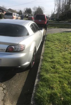 2004 Mazda rx8 transmission automatic drive train rear wheel drive engine 1'3 l . L 2 rotary fuel regular city 18 miles gallons highway 25 miles nee for Sale in Seattle,  WA
