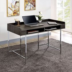 Modern USB supported computer desk in Chrome Legs for Sale in Hacienda Heights,  CA