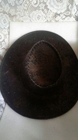 COWBOY HAT WITH DESIGN MULTITONES JUST NEED THE STRAPS for Sale in Miami Gardens, FL