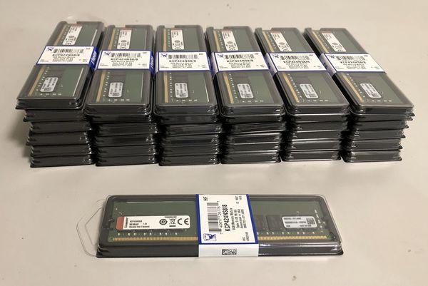 Kingston KCP424NS8/8 8gb DDR4-2400 PC4-19200 Module Memory Sealed New for Desktop RAM