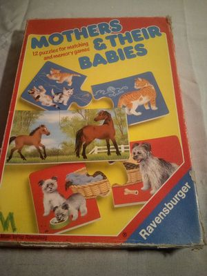 Vintage mothers and their babies matching puzzle game for memory for Sale in Wakeman, OH