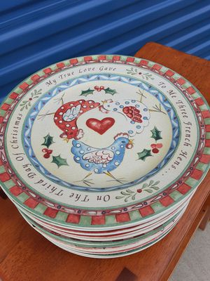 Twelve Days of Christmas plates by 222 Fifth for Sale in Tulsa, OK