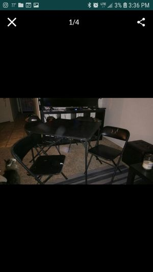 5 Piece Card Table; Square Table Desk with 4 chairs for Sale in Tempe, AZ