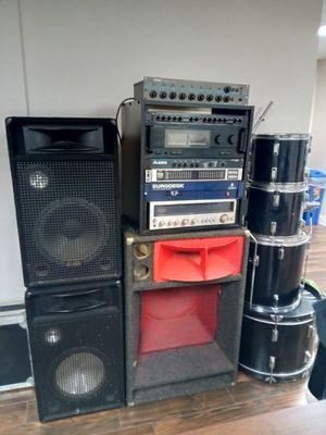 Eurdesk drum set speakers for Sale in Bridgeport, CT
