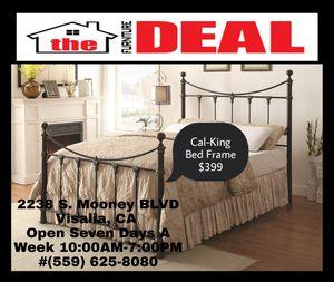 Cal-King Bed Frame $399 for Sale in Visalia, CA