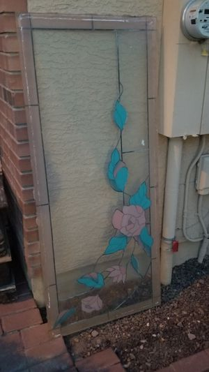 Beautiful stained glass door insert for Sale in Chandler, AZ