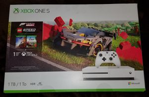 Factory Sealed XBOX ONE S 1TB Bundle with 2 Free Games (Forza 4 & Lego Speed Champions) + 1 Month LIVE GOLD & Game Pass for Sale in Bakersfield, CA