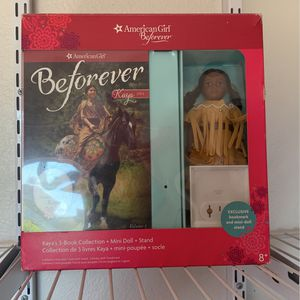 American Girl Kaya's 3-book Collection + Mini Doll + Stand for Sale in Escondido, CA