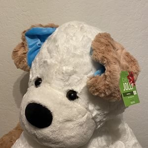 Super Cute Brand New With Tags Teddy Bear Plush Stuffed Animal With Blue Ears Baby Boy Gift Baby Shower Oresent Nursery Decor for Sale in Mission Viejo, CA