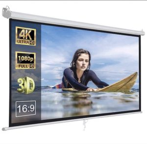 "119"" HD 4K manual pull down projector screen 84""x84"" for Sale in Pico Rivera, CA"