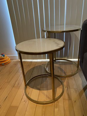 Gold/Marble End table set for Sale in Farmington Hills, MI