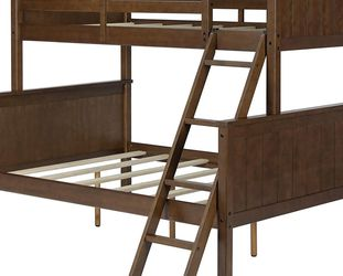 twin over full bunk bed cheery wood for Sale in Vancouver,  WA