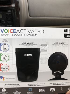 Altec voice activated security system for Sale in Charlotte, NC