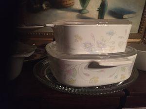 "Set of 2 lidded vintage Corning ware pots 7"" and 6"" for Sale in Doral, FL"