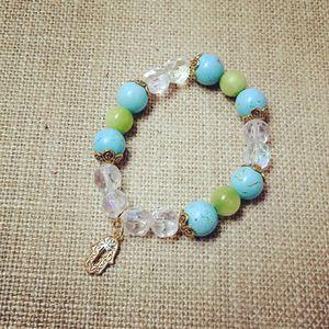 Green and baby blue bracelet hamsa bracelet for Sale in Hialeah, FL