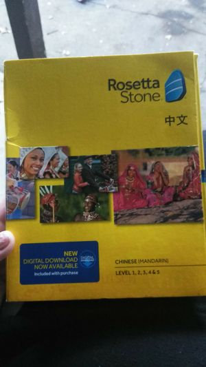 Rosetta Stone (chinese) level 1 2 3 4 & 5 for Sale in West Sacramento, CA