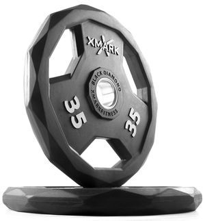 Brand New Pair of XMark Black-Diamond 35 lbs Olympic Weight Plates (70 lbs Total) for Sale in Santa Maria, CA