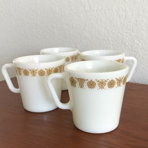 Vintage Pyrex Butterfly Gold Mug Set for Sale in Davenport, FL