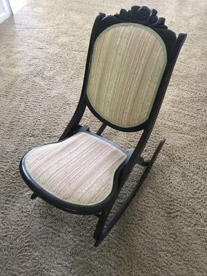 Wooden Folding Rocking Chair - Floral for Sale in Franklin, TN