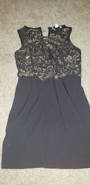 Women black and gold dress small for Sale in Kyle, TX