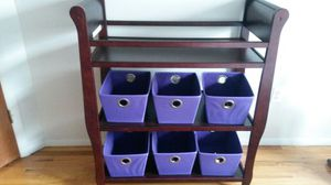 Changing table with baskets for Sale in Brooklyn, NY