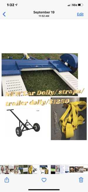 Brand NEW car dolly, straps, and hitch dolly-$1150 for Sale in The Villages, FL