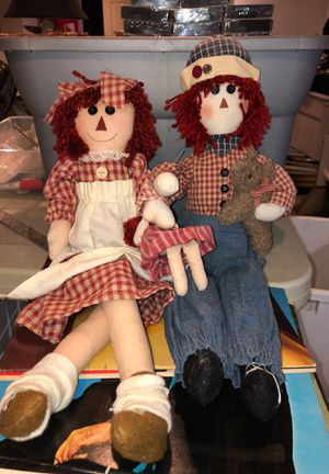"""Raggedy Ann & Andy 20"""" Dolls Preowned From an Estate for Sale in Berlin, NJ"""