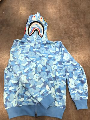 Blue fire bape hoodie XL for Sale in Pasadena, CA