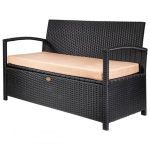 Outdoor storage bench garden pool deck box patio with cushion for Sale in Bradbury, CA