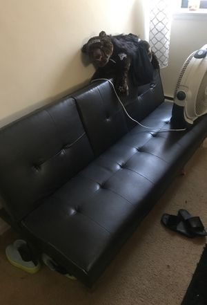 Black Futon couch for Sale in Washington, DC