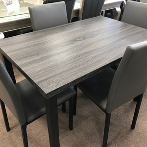 5pc Gray Dining Set for Sale in Houston, TX