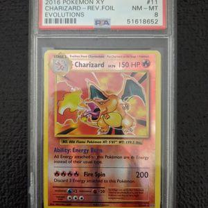 2016 PSA 8 Pokemon XY Evolutions Reverse Holo Charizard 11/108 for Sale in Coyote, CA