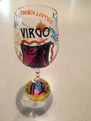 LOLITA VIRGO BIRTHDAY LOVE MY WINE GLASS-COLLECTIBLE! GREAT GIFT for Sale in Chandler, AZ