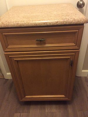 Custom Wood cabinet with granite top by Mouser for Sale in Naperville, IL