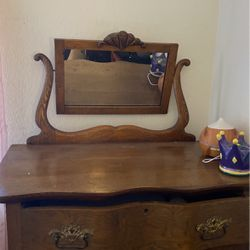 Antique Dresss Very Good Wood. Mirror Is Ina Good Condition for Sale in Colma,  CA