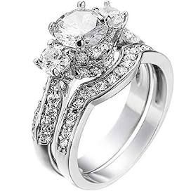 2.5 White Gold CZ Bridal Set for Sale in Tyngsborough, MA