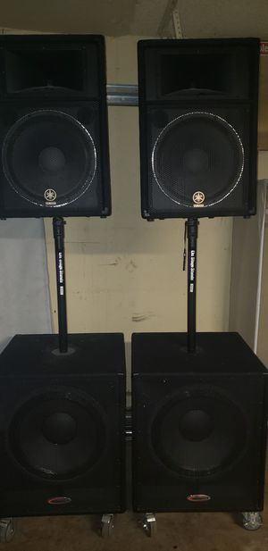"Pair yamaha 15""s and 18""s for Sale in Stockton, CA"
