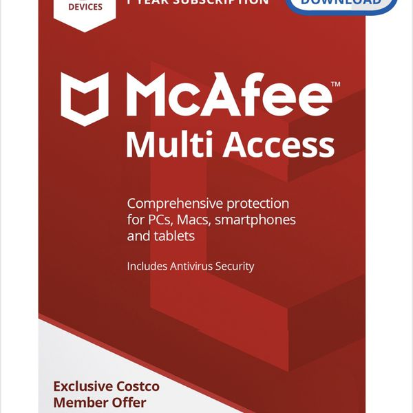 McAfee - 1-year subscription