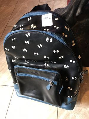 COACH SPECIAL EDITION Men's Black Disney X Academy Backpack With Spooky Eyes Print Retail price is 595. for Sale in Los Angeles, CA